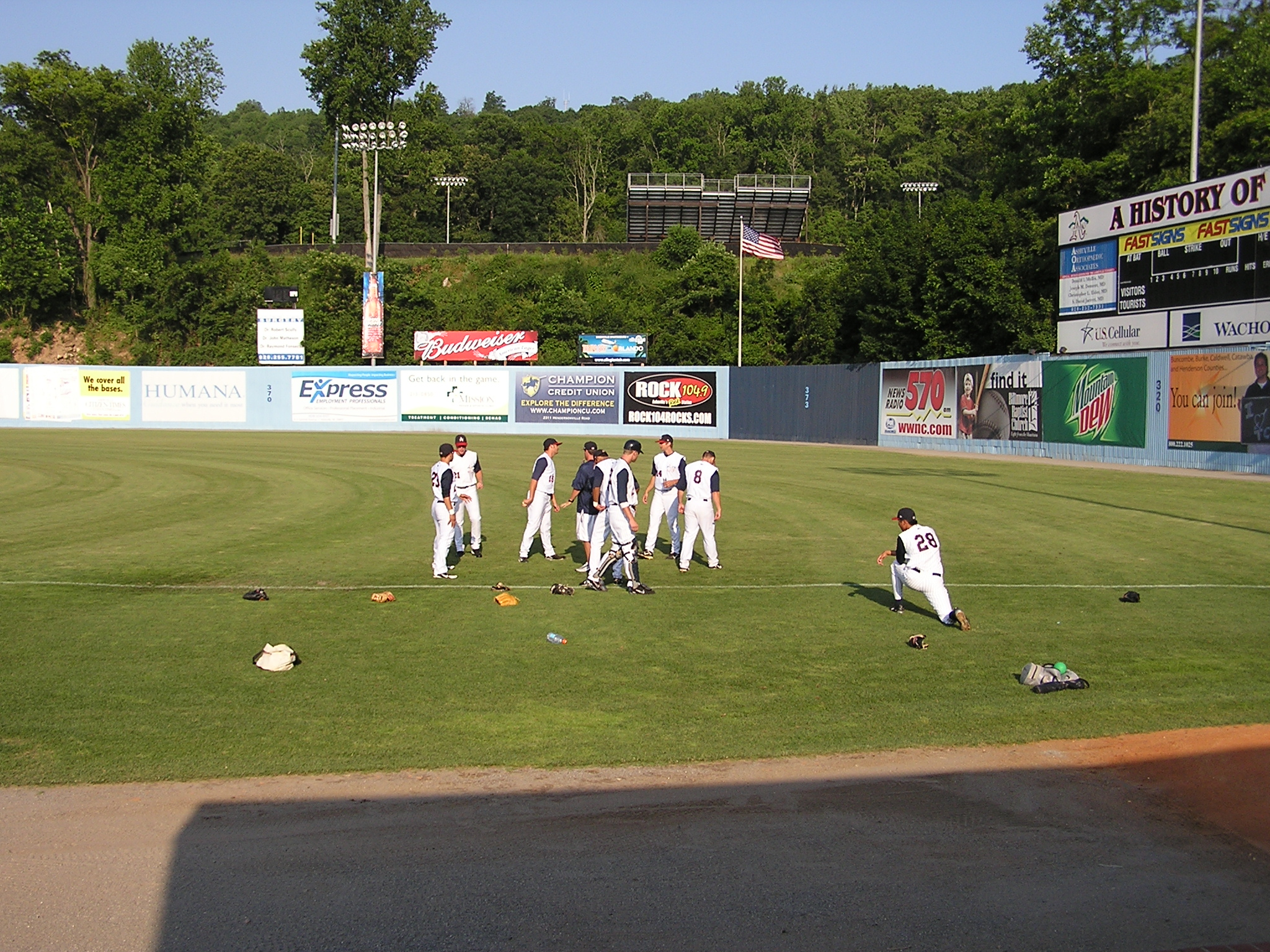 Pre-Game warmups at McCormick Field