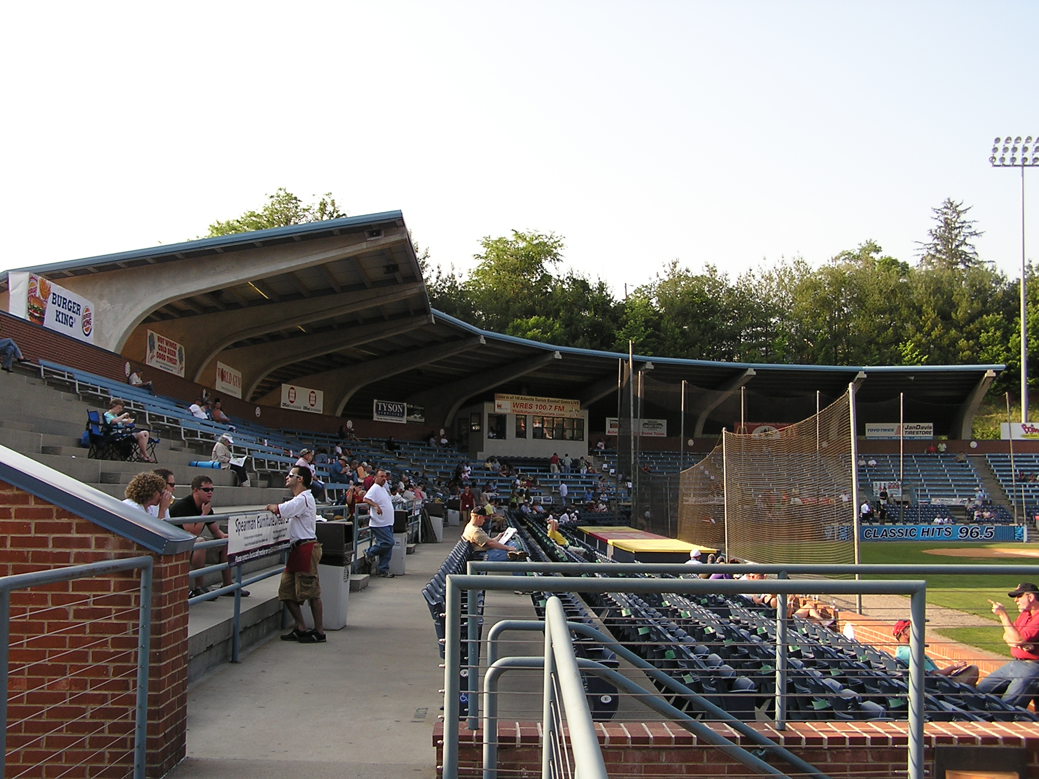 Looking back from the RF stands, McCormick Field