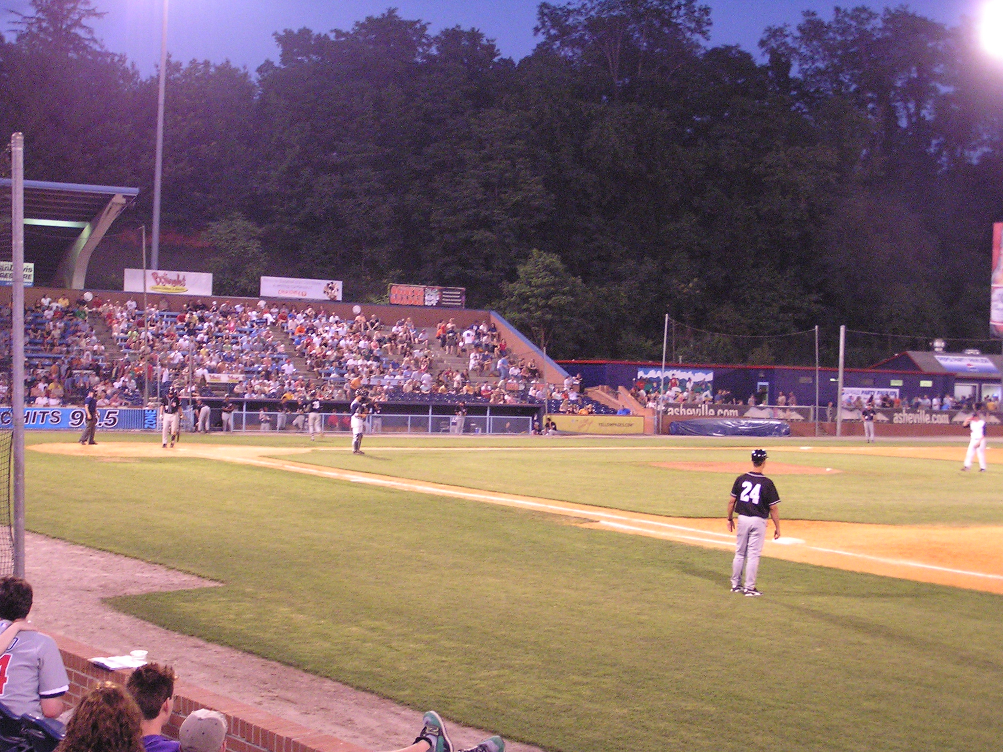 Game action at McCormick Field - Asheville, NC